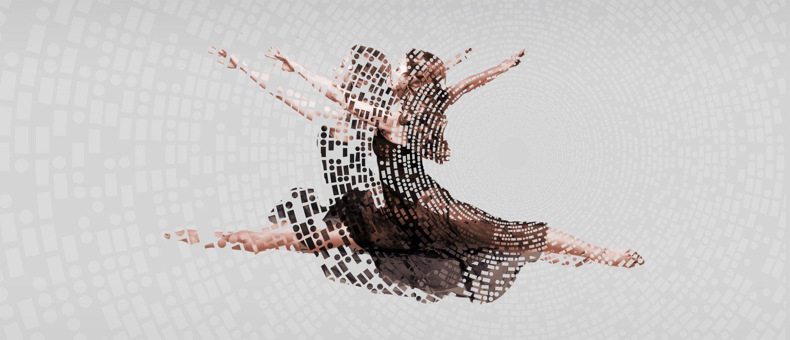 Tänzerin im Sprung